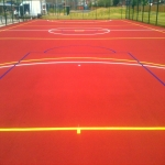 EPDM Rubber Sport Flooring in Monmore Green 2