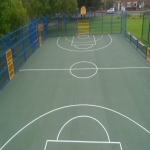 EPDM Rubber Sport Flooring in Monmore Green 3
