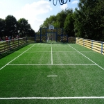 Synthetic Sport Surface Installation in Conwy 4