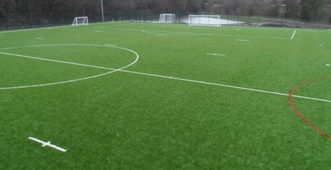 Rugby Union Pitch Dimensions in Afon Eitha