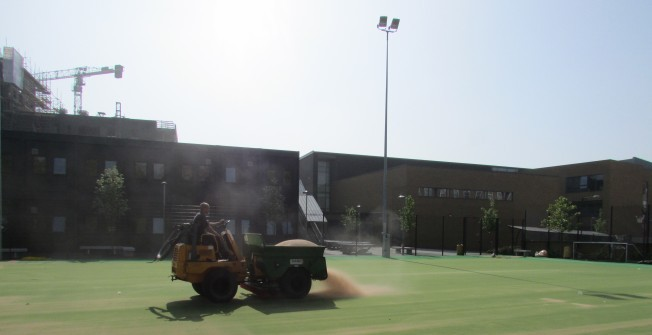 Installing Sport Surfaces in Abbey Yard