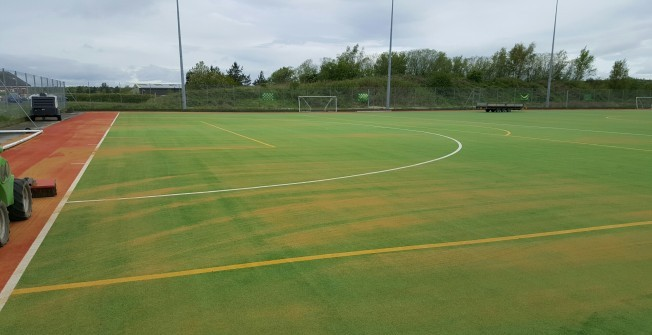 Sand Filled Hockey Surfacing in Glan-y-nant