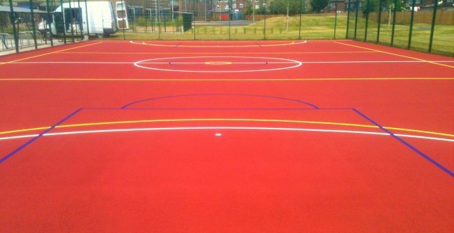 Polymeric Sports Court Specification in Monmore Green