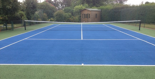 Tennis Surface Measurements in Synod Inn/Post Mawr
