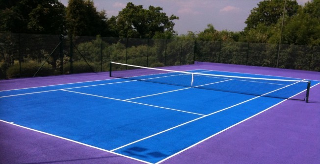 Tennis Court Dimensions in Aber-Cywarch