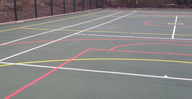 Installing Netball Courts in Highland